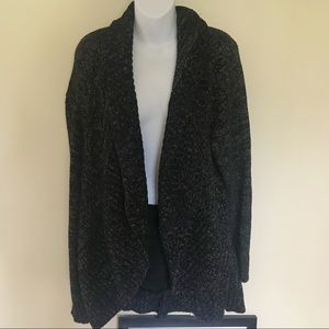 AVA & VIV CHUNKY DARK GREY CARDIGAN